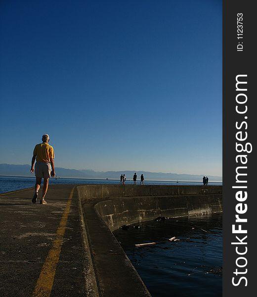 Pier walking