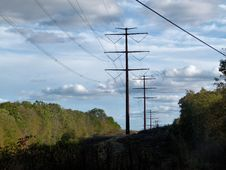 Free Sky, Overhead Power Line, Transmission Tower, Electricity Stock Image - 112041691