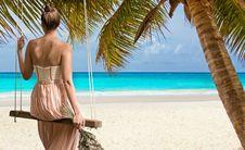 Free Vacation, Caribbean, Beach, Sun Tanning Stock Image - 112046151