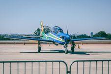 Free Blue Propeller Plane Stock Photo - 112089900
