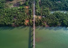 Free Aerial Photography Of Gray Bridge Over Body Of Water Stock Photography - 112184682