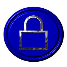 Free Blue, Cobalt Blue, Electric Blue, Padlock Stock Photography - 112201142