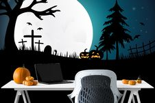 Free Wallpaper, Computer Wallpaper, Halloween, Illustration Royalty Free Stock Photography - 112201487