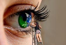 Free Eyebrow, Eyelash, Eye, Close Up Stock Photos - 112277963