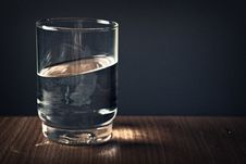 Free Clear Drinking Glass Filled With Water Stock Photos - 112301423