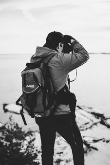 Free Grayscale Photography Of Man Taking Photo Royalty Free Stock Photography - 112301567