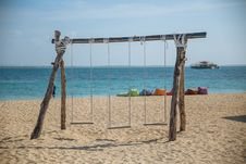 Free Photo Of Three Swing Chairs Royalty Free Stock Images - 112301619