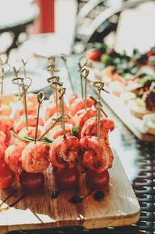 Free Photography Of Cherry With Meat On Tray Stock Images - 112308764