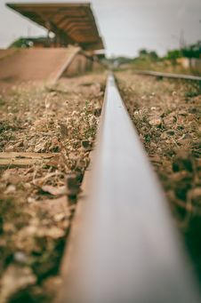 Free Selective-focus View Of Train Station From A Rail Royalty Free Stock Photos - 112308768