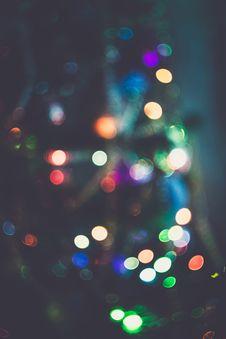 Free Blurred Christmas Tree Garland Stock Image - 112332781