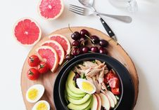 Free Bowl Of Vegetable Salad And Fruits Stock Images - 112363774