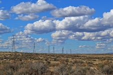Free Black Electric Posts Under White Clouds Stock Image - 112363941