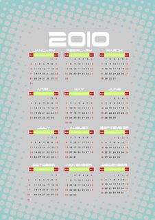 Free Calendar 2010 Stock Photos - 11247933