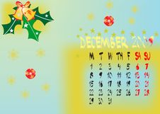 Free Calendar Dec 2009 Stock Photography - 11247972