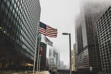 Free Photo Of High Rise Buildings On A Foggy Day Stock Photo - 112455040