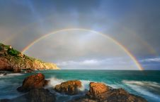 Free Rainbow, Nature, Sky, Sea Stock Photo - 112495390