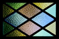 Free Green, Yellow, Brown, And Blue Stained Glass Stock Photos - 112565063