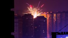 Free Fireworks Display Near High Rise Buildings During Nighttime Stock Photo - 112565120