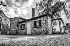 Free Black And White, House, Home, Town Stock Photography - 112571322