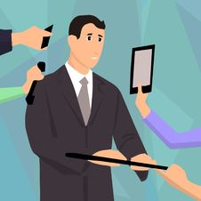 Free Professional, Standing, Cartoon, Gentleman Royalty Free Stock Image - 112573146