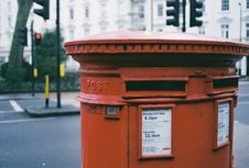Free Oblong Brown Metal Mailbox Stock Image - 112669531