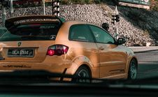 Free Photo Of Orange 3-door Hatchback Royalty Free Stock Image - 112669616