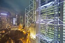 Free High Rise Buildings During Night Time Stock Photography - 112669622