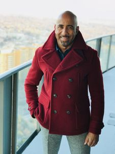 Free Man In Red Coat Stock Images - 112669634