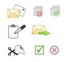 Free Office Icons Royalty Free Stock Photos - 11276168
