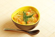 Free Bowl Of Chicken Noodle Soup Royalty Free Stock Photos - 11276868