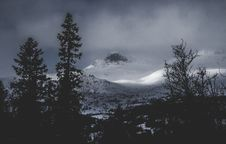Free Glacier Mountains Near The Forest Royalty Free Stock Photography - 112738637