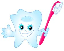 Free Smiling Tooth Toothbrush Stock Photography - 11285922