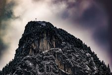 Free Low Angle Photography Of Cross On Top Of Mountain Stock Photos - 112809563