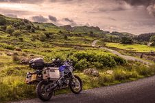 Free Land Vehicle, Motorcycle, Sky, Mountainous Landforms Royalty Free Stock Photo - 112840515