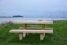 Free Bench, Furniture, Shore, Outdoor Furniture Stock Photo - 112842810