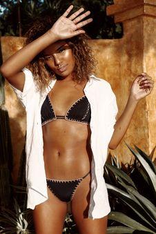 Free Photo Of Woman Wearing Black Bikini And White Button-up Royalty Free Stock Image - 112878126
