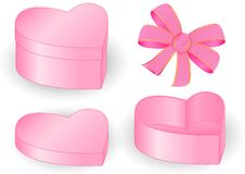 Free PRESENT BOX HEART BOW PINK Stock Image - 11296961