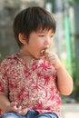 Free Boy Eating Ice-cream Royalty Free Stock Photo - 1139485