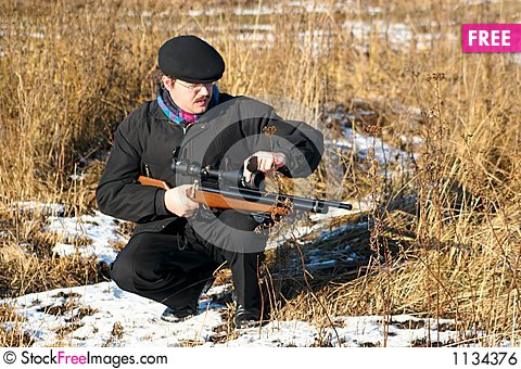Free Winter Hunter Royalty Free Stock Image - 1134376