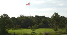 Free Flag High Above The Park Stock Photography - 1132492