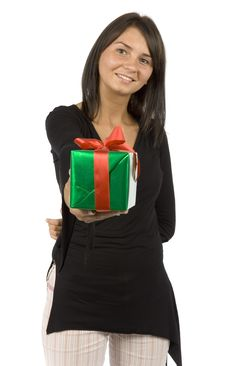 Free Woman With Gift Stock Photos - 1133043