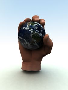 Free Earth In Hand Stock Photography - 1134632