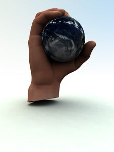 Free Earth In Hand 4 Stock Photography - 1134642