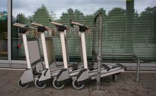 Free Chained Trolleys Stock Photography - 1137002