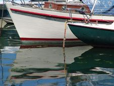 Free Bows Of Fishing Boats Royalty Free Stock Image - 1138306
