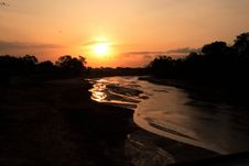 Free African Sunset Royalty Free Stock Image - 1139236