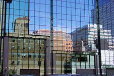 Cityscape Reflections Royalty Free Stock Photos