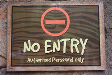 Free No Entry Stock Image - 11307321