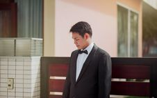 Free Photo Of The Groom Wearing His Tuxedo Stock Photos - 113036203