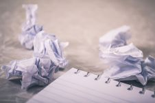 Free Close-Up Photography Of Crumpled Paper Stock Image - 113036291